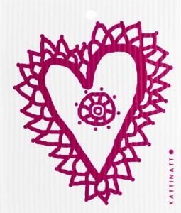 Spetshjärta, röd