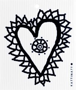 Spetshjärta, svart