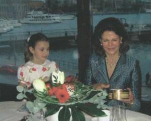 Chantal mit Königin Silvia