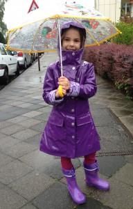 Mädchen Regenmantel Lila web