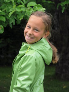 Mädchen Regenmantel Lime