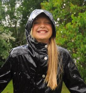 Mädchen Regenmantel Schwarz