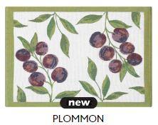 tischset Plommon