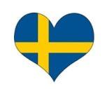 Schwedische Fahne mit Herz