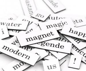 Kylskåpspoesi Englisch Wörter