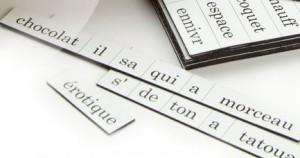 Kylskåpspoesi Französische Wörter