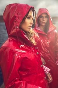 Osregn Regenmantel Lack Rot 2